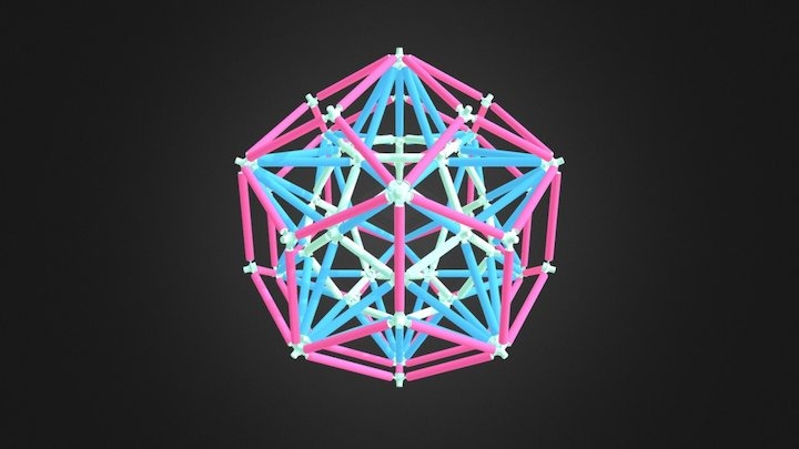 Stellated Dodecahedron Rhombic Triacontahedron 3D Model