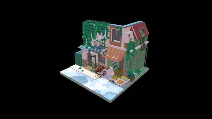 Street - Voxel Art 3D Model