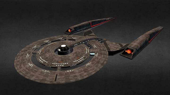 Discovery Heavy Cruiser 3D Model