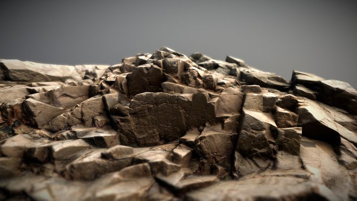 Photoscanned ground formation 3D Model