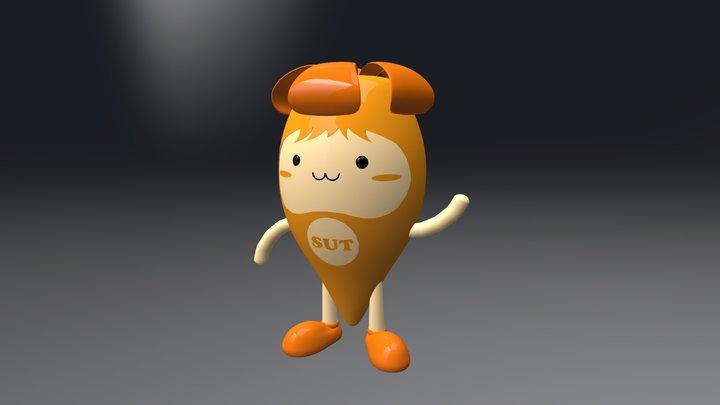 Peep Thong Mascot 3D Model