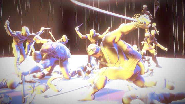 TMNT fanart scene 3D Model