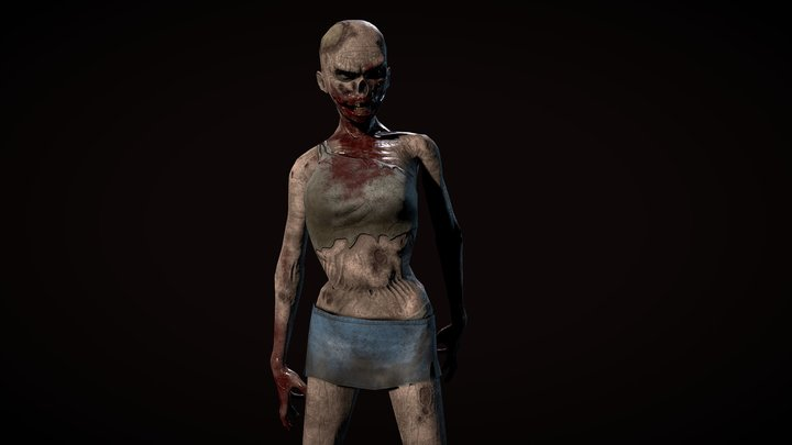 Carmela The Zombie 3D Model