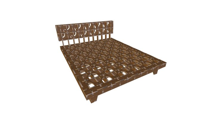 AtFAB 008_bd silver lining bed 3D Model