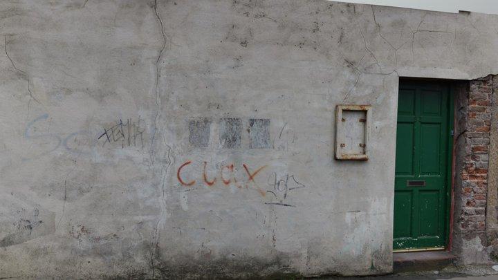 Old Graffiti Wall & Door Scan 3D Model