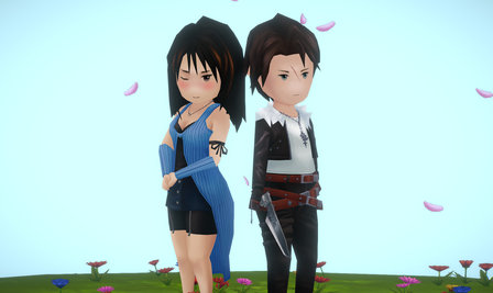Final Fantasy VIII, Squall and Rinoa 3D Model