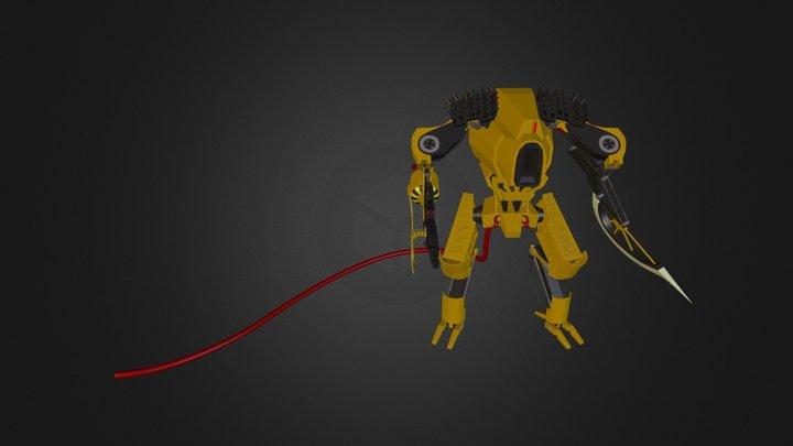 Yellow Power Ranger 3D Model