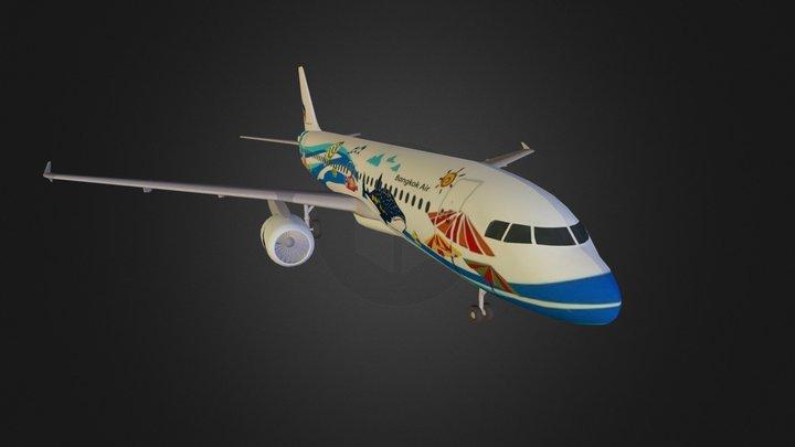 A320-200 Bangkok Air 3D Model