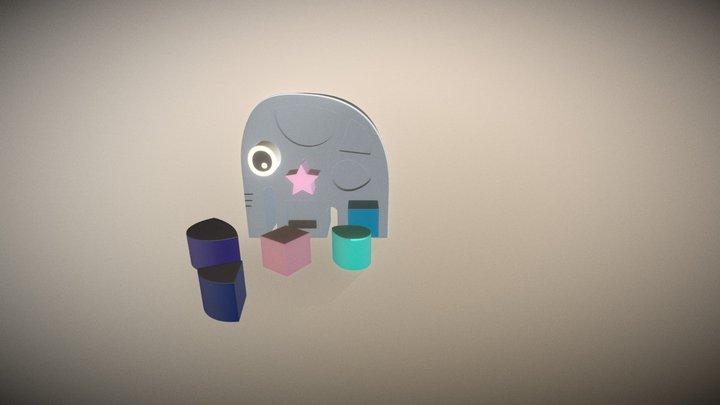 Wodden Elephant Sorter Toy Fbx 3D Model