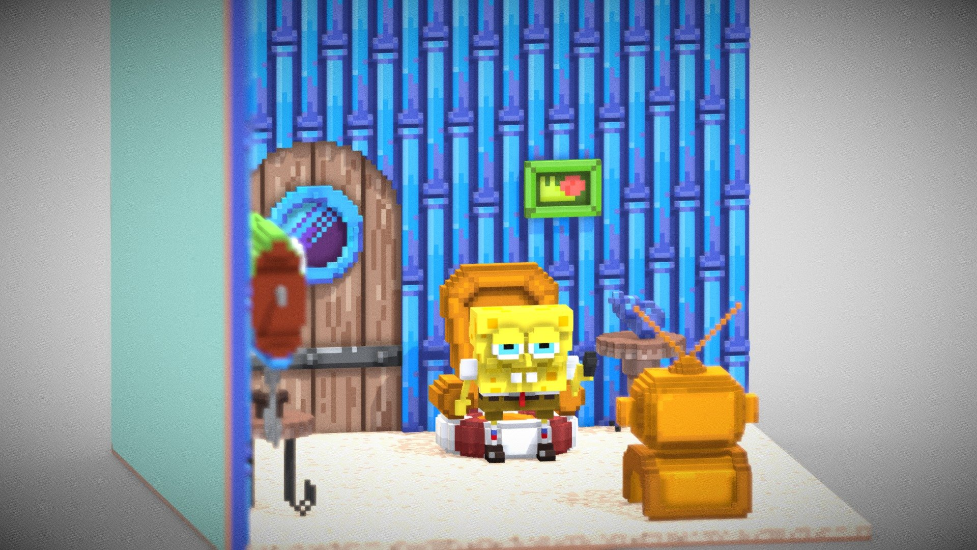 Spongebob Squarepants Living Room Download Free 3d Model By