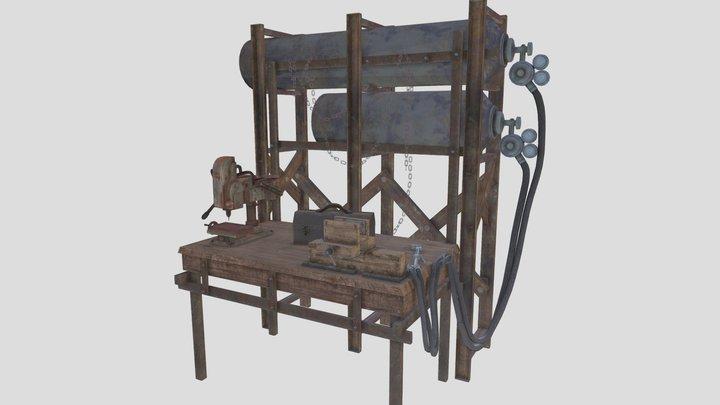 Stylized Weapons Workbench 3D Model