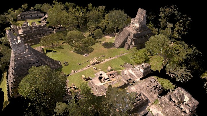 Tikal Guatemala Point cloud 3D Model