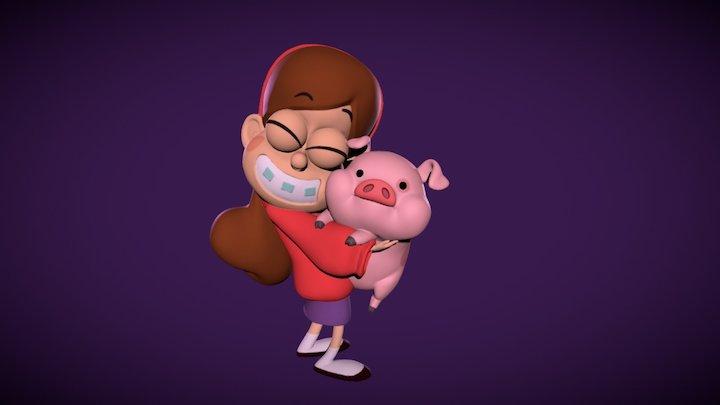 Mabel & Waddles 3D Model