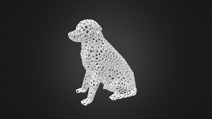 Voronoi Labrador Retriever Dog (for 3D printing) 3D Model