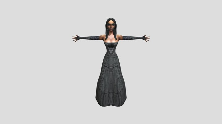 Greta the witch 3D Model
