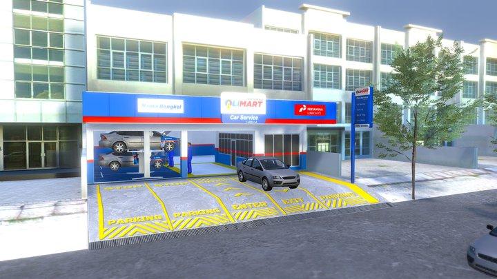 Aplikasi 1 Jalan Bengkel Olimart 3D Model