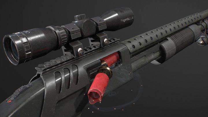 Mossberg 590 Tactical 3D Model