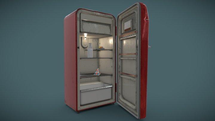"""Soviet Fridge """"ZIL Moskva"""" 3D Model"""