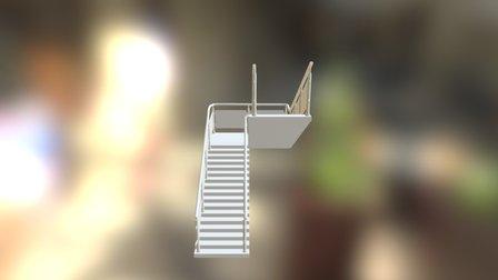 Escalier Style V2 3D Model