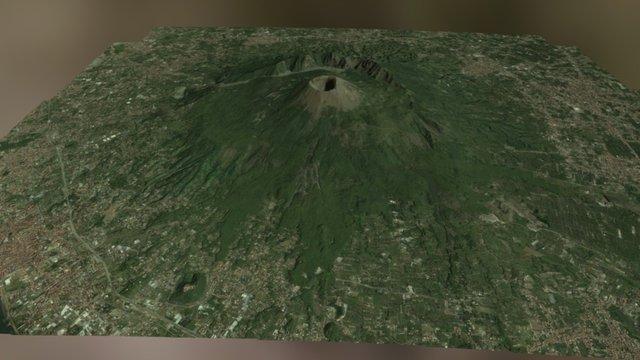 M. Somma Vesuvio, Vesuvius (Naples-Italy) 3D Model