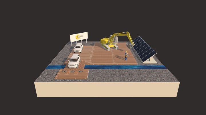 Mats and Solar panels - Interconnection Systems 3D Model
