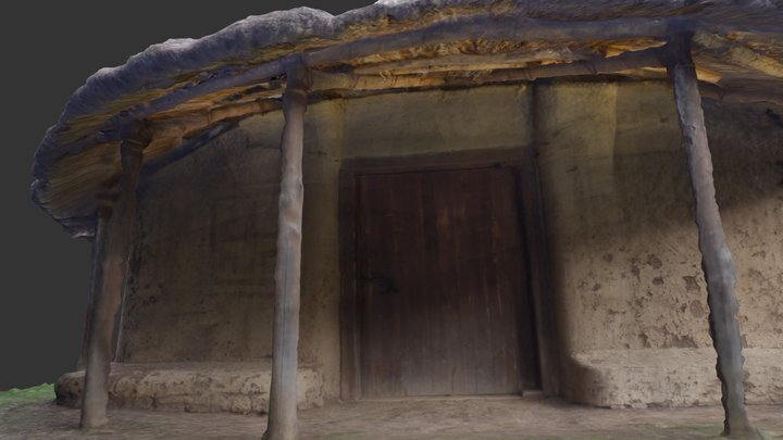 Reconstruction of an Iron Age hut (Fidene, Rome) 3D Model