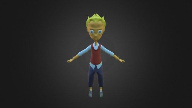 Personatge Smooth & unwrapp 3D Model