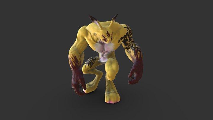 Hyper PikaChu 3D Model