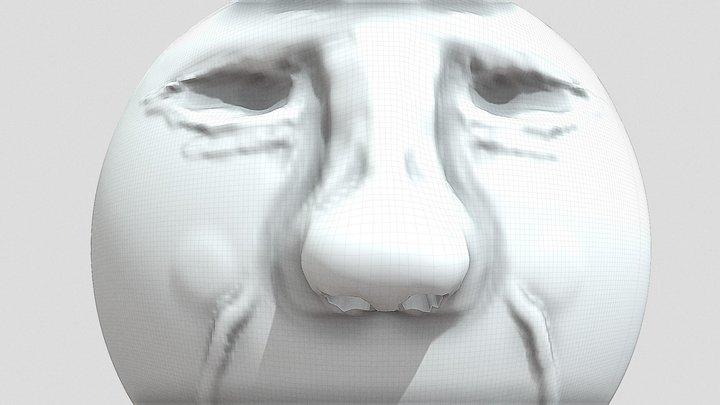 Statue 3D (head) 3D Model