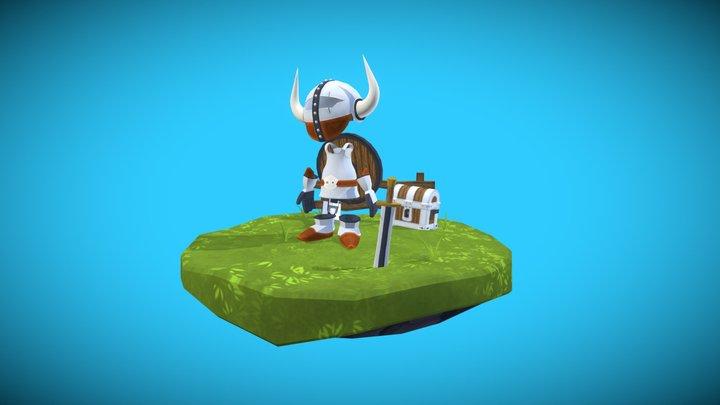 Viking Island 3D Model