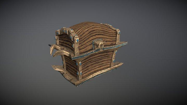 Fantasy stylized chest 3D Model