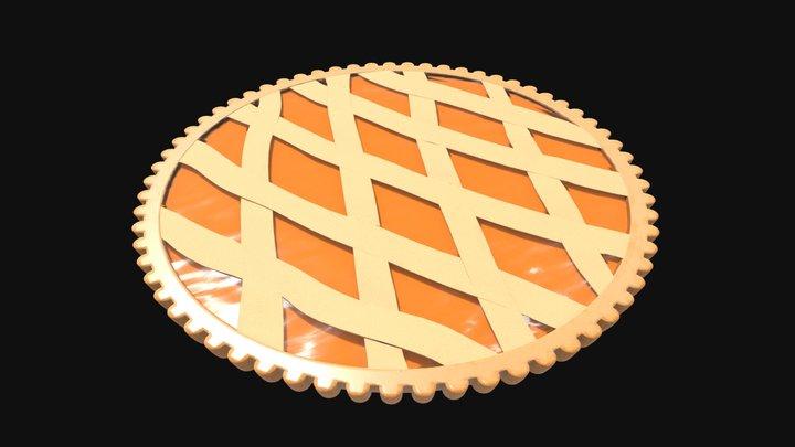 Apricot jam tar 3D Model