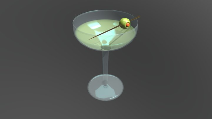 cocktail (Martini) 3D Model
