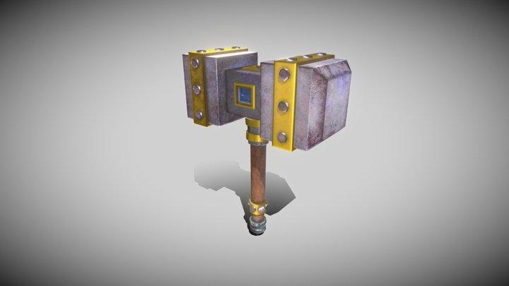 Gameready Hammer (Молот) 3D Model