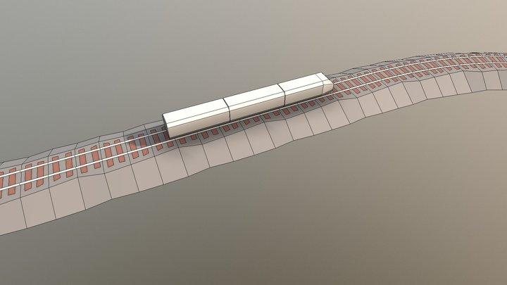 Model Train 3D Model