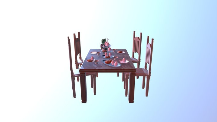 Tea Party (no text) 3D Model