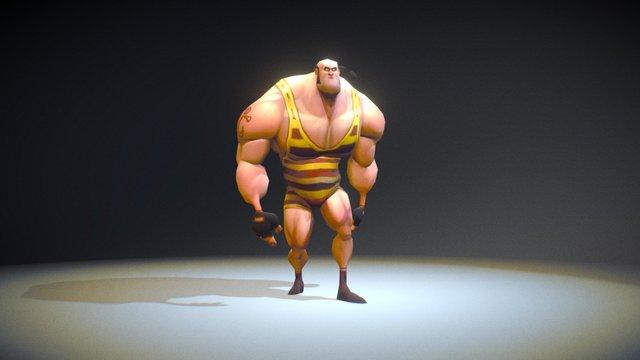 Jonas Georgakaki's strongman model animation 3D Model
