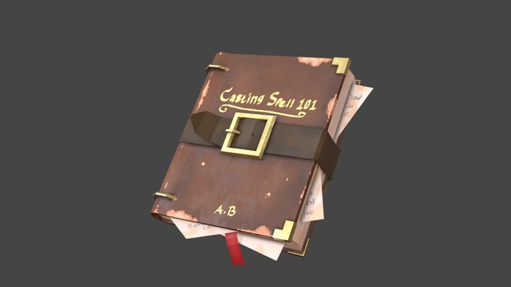 RPG Spell Book 3D Model