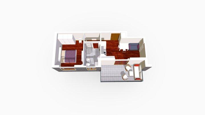 Bilocale Via Lacaita Milano 3D Model
