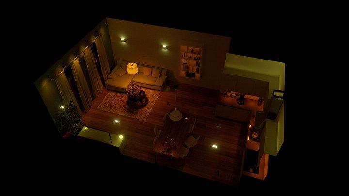 Hue Room 3D Model