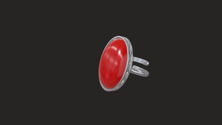 Amber ring wave 3D Model