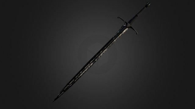 2 Handed Sword 3D Model