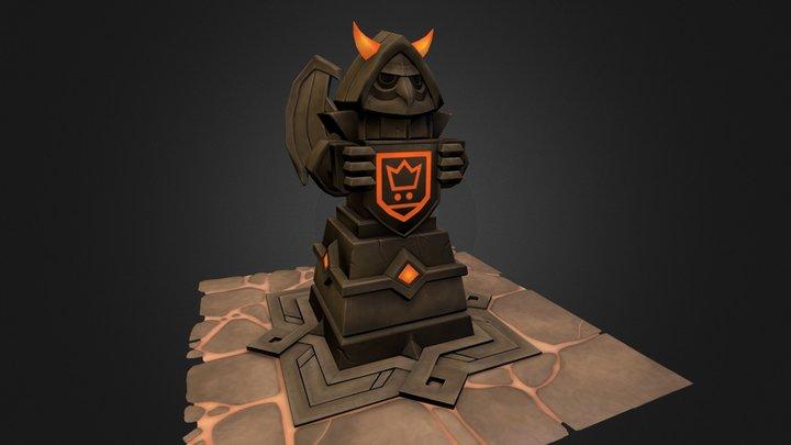 Night Owl Statue 3D Model