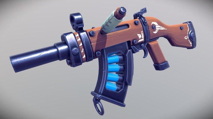 Stylized Assault Shotgun 3D Model