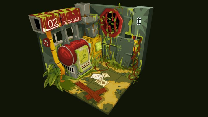 Abandoned Machine Room 3D Model