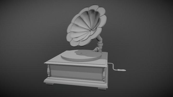 Antique Record Player 3D Model