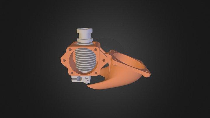 E3 D V6 Fan Support 3D Model
