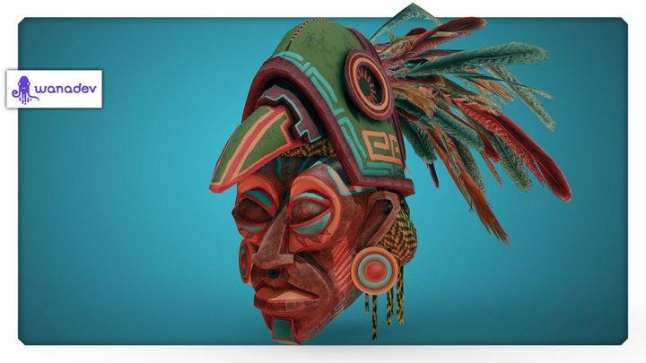 Yucatan - Masque maya 3D Model