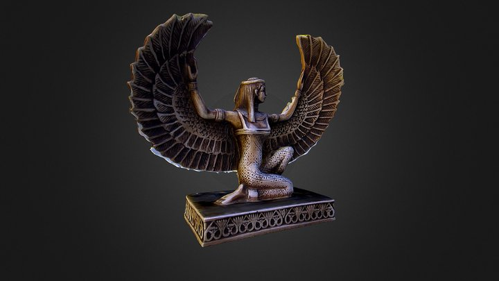 Statuetta dea Isis 3D Model