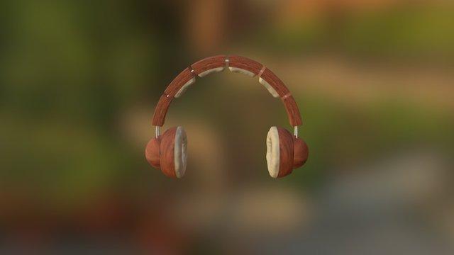 casque en Bois V1 3D Model